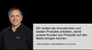 (English) Geschäftsführer Eduard Blesius präsentiert die Anwendung seiner Lederpflegeprodukte